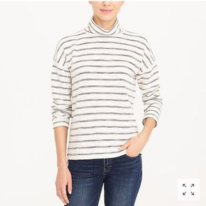 J. Crew Factory striped mockneck pullover H5930